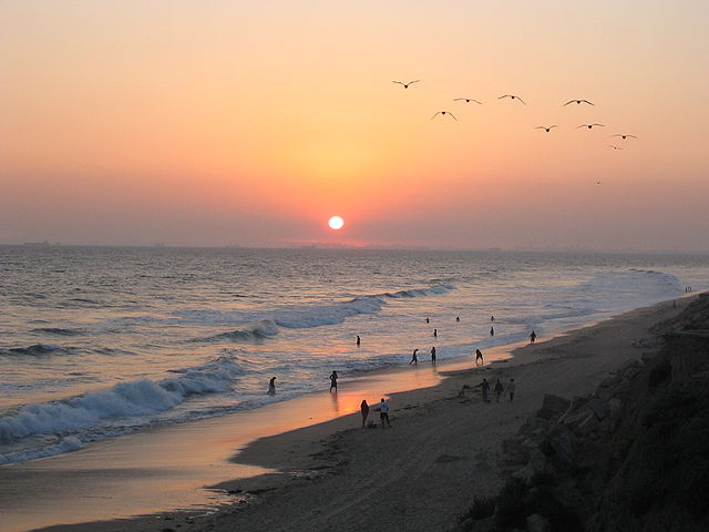 Huntington Beach - Image Credit: http://en.wikipedia.org/wiki/File:Sunset_at_Huntington_Beach.jpg