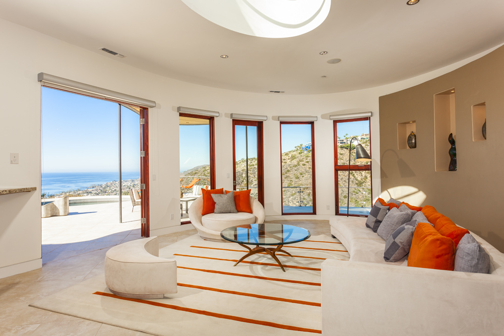 Living Room - Open House at 1712 Thurston Drive, Laguna Beach